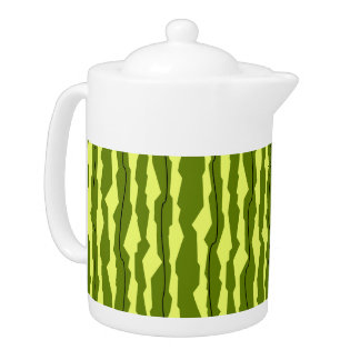 Watermelon Stripe teapot