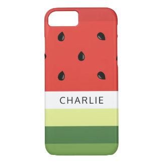 Watermelon Stripes custom name phone cases