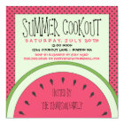 Watermelon Summer Cookout Invitation