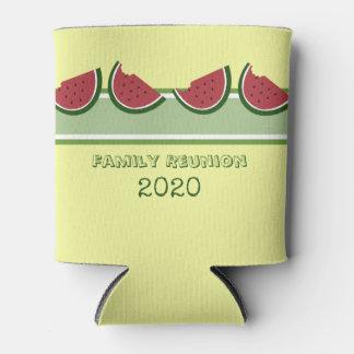 Watermelon Summer Family Reunion Fun Yellow Can Cooler