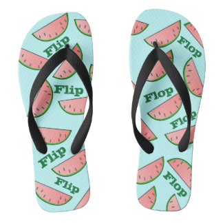 Watermelon Summer Flip Flops