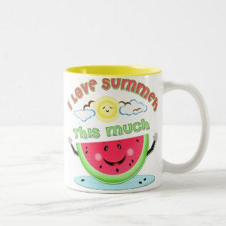 Watermelon Summer Love Two-Tone Coffee Mug
