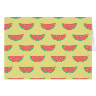 watermelon summer pattern card