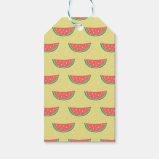 watermelon summer pattern gift tags