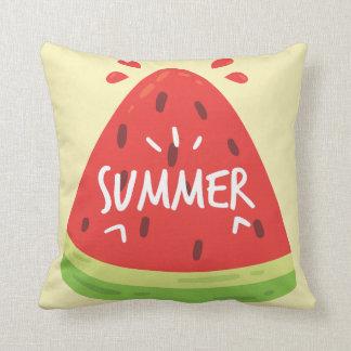 Watermelon Summer Throw Pillow