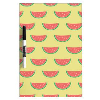 watermelon summertime pattern dry erase board