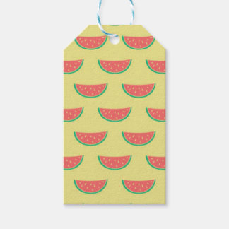 watermelon summertime pattern gift tags