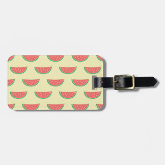 watermelon summertime pattern luggage tag