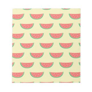 watermelon summertime pattern notepad