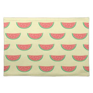 watermelon summertime pattern placemat