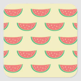 watermelon summertime pattern square sticker