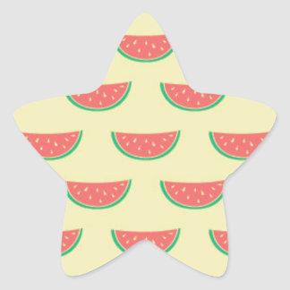 watermelon summertime pattern star sticker