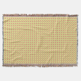 watermelon summertime pattern throw blanket
