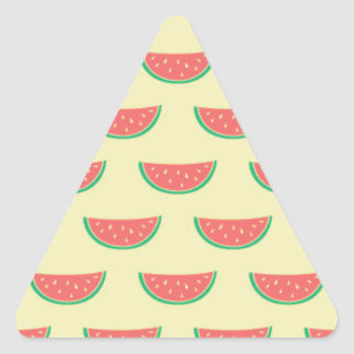 watermelon summertime pattern triangle sticker