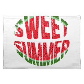 Watermelon - sweet summer placemat