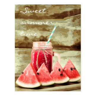 Watermelon sweet summertime postcards
