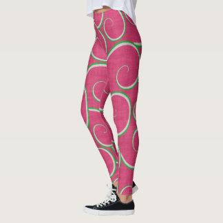 Watermelon Swirls Leggings