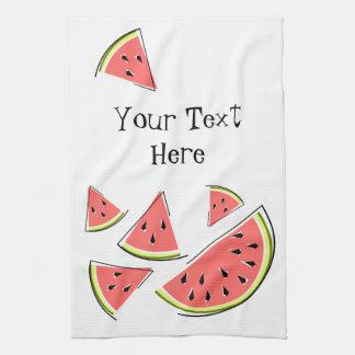 Watermelon Text kitchen towel