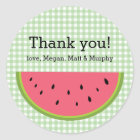 Watermelon Thank You Classic Round Sticker