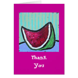 watermelon, Thank You note card