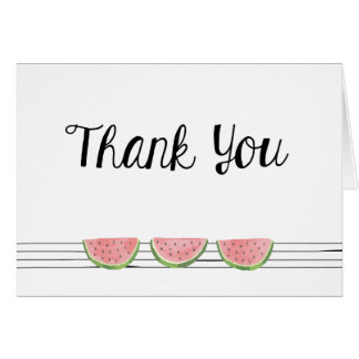 Watermelon Thank You Note Card