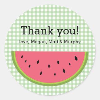 Watermelon Thank You Round Sticker