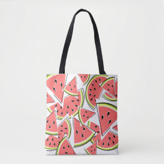 Watermelon tote bag yellow green back