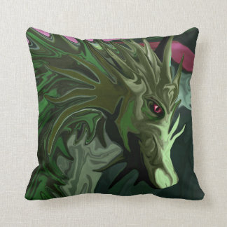 Watermelon Tourmaline Dragon Throw Pillow