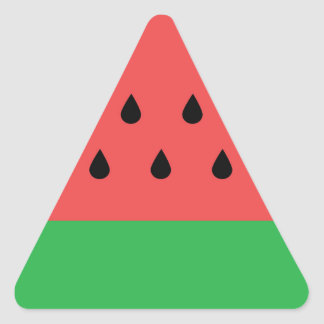 Watermelon Triangle Sticker
