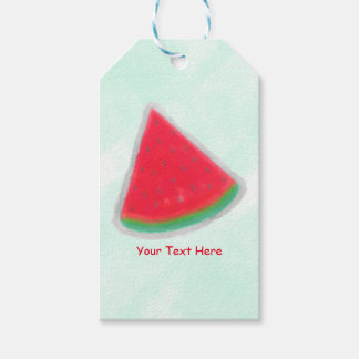 Watermelon Watercolor Birthday Party Custom Favor Gift Tags