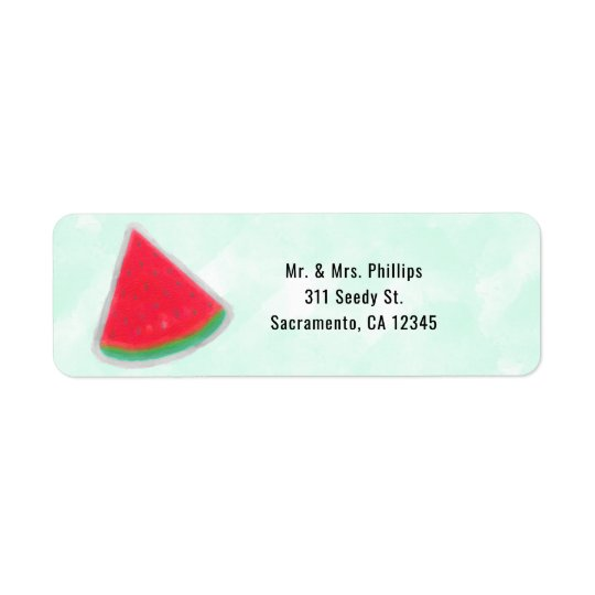 Watermelon Watercolor Birthday Party Invitation