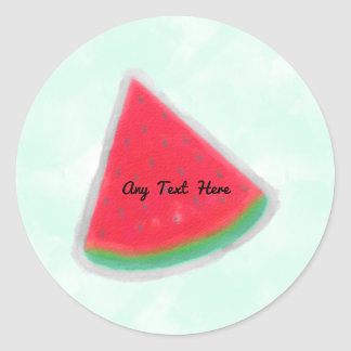 Watermelon Watercolor Birthday Party Personalized Classic Round Sticker