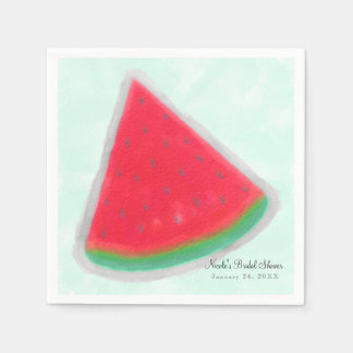 Watermelon Watercolor Birthday Party Personalized Paper Napkin
