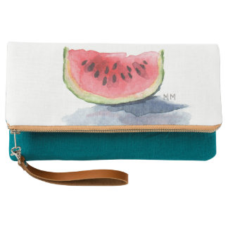Watermelon Watercolor Clutch