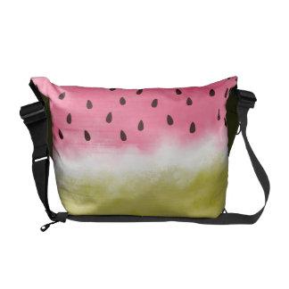 Watermelon watercolor pattern courier bag