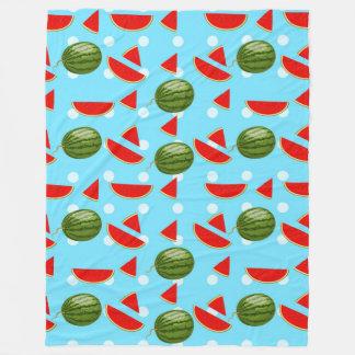 Watermelon With Slice Fleece Blanket