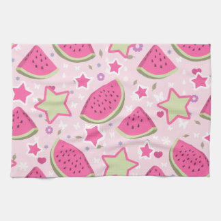 Watermelons and Stars Pattern Kitchen Towel