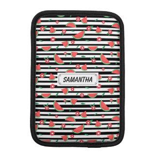 Watermelons and stripes iPad mini sleeves