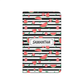 Watermelons and stripes journal