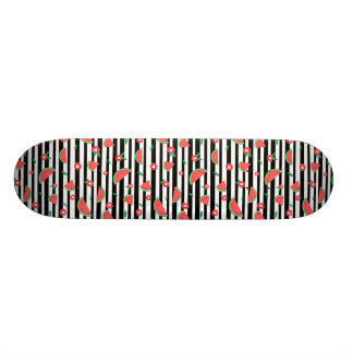 Watermelons and stripes skateboard