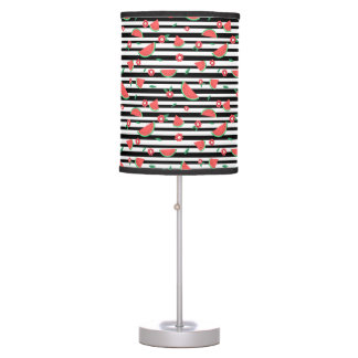 Watermelons and stripes table lamp
