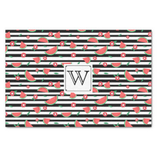Watermelons and stripes tissue paper