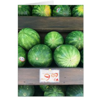 Watermelons for Sale, Fruit Stand, New York City Card