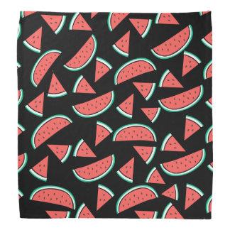 watermelons pattern on black bandana
