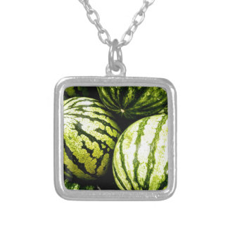 Watermelons Silver Plated Necklace