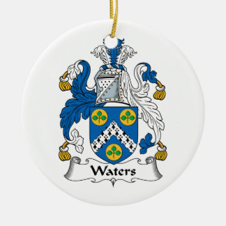 Waters Family Crest Ceramic Ornament