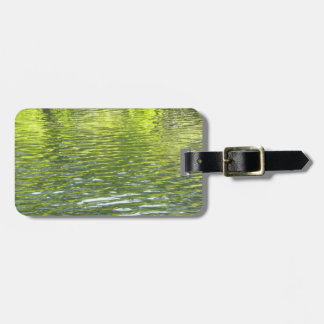 Waters of Oak Creek Yellow and Green Nature Photo Bag Tag