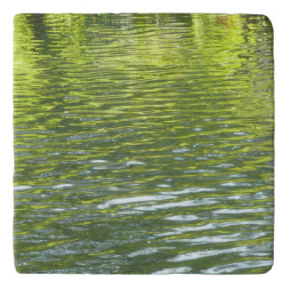 Waters of Oak Creek Yellow and Green Nature Photo Trivet