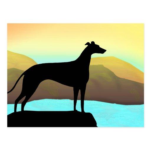 Waterside Greyhound Dog Landscape