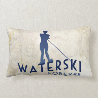 Waterski Forever Lumbar Pillow
